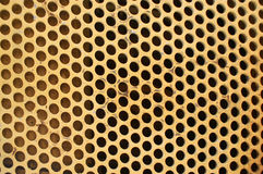 Grade do metal amarelo Imagens de Stock