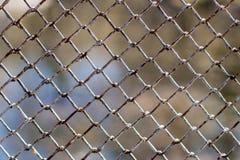 Grade do metal e fundo defocused da natureza fotos de stock