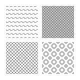 Grade do rombo e linhas texturas sem emenda das ondas Imagens de Stock