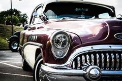 Grade e amortecedor vermelhos da parte dianteira do carro Imagem de Stock Royalty Free