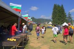 Grade eclético no recinto de diversão de Rozhen, Bulgária imagem de stock