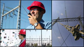 Grade elétrica - sistema de transmissão de energia vídeos de arquivo