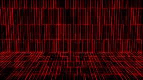 Grade em mudança abstrata na cor vermelha ilustração stock