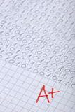Grade a examination math school education Royalty Free Stock Image