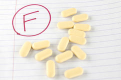 Grade f with drug Royalty Free Stock Photography
