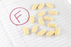 Grade f with drug Royalty Free Stock Images