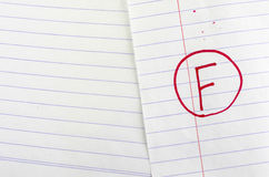 Grade f. On line paper background stock images