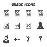 Grade icons Royalty Free Stock Photography