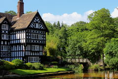 Grade II Listed Mock Tudor Building. A listed mock Tudor building by the side of a canal royalty free stock image