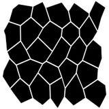 Grade irregular preto e branco ilustração do vetor