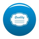 Grade label icon blue vector. Grade label icon vector blue circle isolated on white background Royalty Free Stock Images