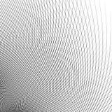 Grade - malha de linhas curvadas dinâmicas Teste padrão geométrico abstrato ilustração stock