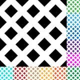 A grade, malha, esquadra o teste padrão em 12 cores Imagem de Stock Royalty Free