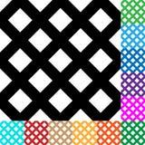 A grade, malha, esquadra o teste padrão em 12 cores ilustração stock