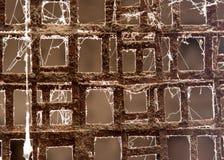 Grade oxidada do metal como um fundo Textura Foto de Stock