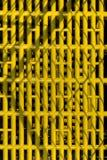 Grade plástica amarela Fotografia de Stock