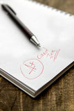 Grade A Plus on Notebook Royalty Free Stock Images