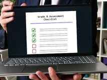Grade R Assessment Checklist sign on the page