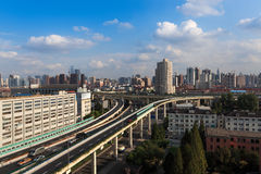 The grade separation bridge in shanghai Royalty Free Stock Images