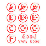 Grade Vector with Circles. Red Stock Images