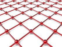 Grade vermelha da rede ilustração do vetor