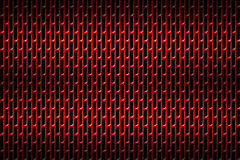 Grade vermelha do cromo Fundo do metal Fotografia de Stock Royalty Free