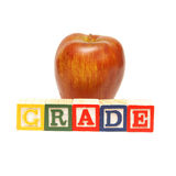Grade Word Stock Image