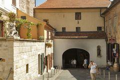 Gradec Stone Gate in Zagreb Stock Photos