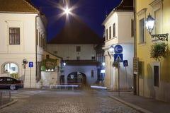 Gradec Stone Gate in Zagreb at night royalty free stock image