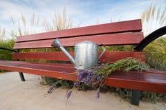 Graden bench and lavander Royalty Free Stock Photos