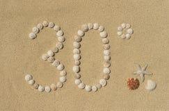 30 graden - de zomer Royalty-vrije Stock Foto's