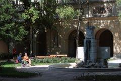 The garden of Palais Saint-Pierre in Lyon Stock Image