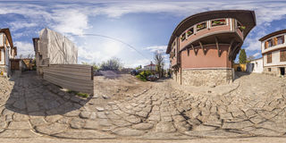 360 graden panorama van het huis-Museum van Atanas Krastev in Pl Royalty-vrije Stock Fotografie