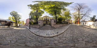 360 graden panorama van het huis-Museum Zlatyu Boyadzhiev in Pl Royalty-vrije Stock Afbeelding