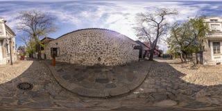 360 graden panorama van het Puldin-restaurant in Plovdiv, Bulgaars Stock Foto