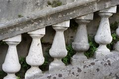 graden van de oude trap Stock Afbeelding