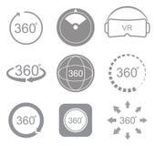 360 graden van het meningsteken het pictogram Stock Fotografie