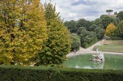 Gradens дворца Pitti, Флоренс Стоковое фото RF