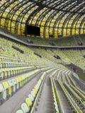 Gradería cubierta del estadio de Gdansk de la arena de PGE Fotos de archivo