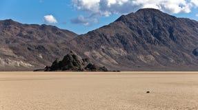 Gradería cubierta y pista Playa, Death Valley Foto de archivo