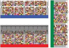 Graderías cubiertas y muchedumbres Libre Illustration
