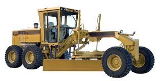 Grader. New grader (isolated stock image
