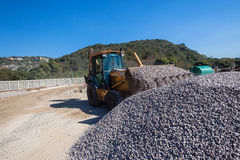 Grader Bucket Stone Scoop Construction Stock Photography