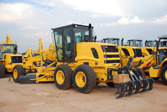 Grader Construction Equipment Yard Stock Photos