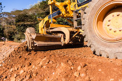 Grader Earthworks Road Construction Stock Image