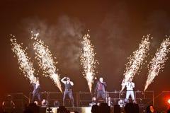 98 grader konsert i Montreal Arkivbild