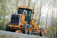 Grader Leveling Road Royalty Free Stock Image