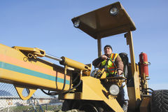 Grader Operator Close Up Stock Images