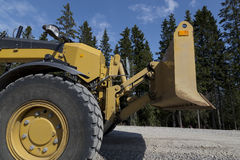 Grader and plow Royalty Free Stock Photo