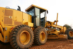 Grader road construction Royalty Free Stock Image